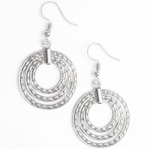 Free with Bundle Open Plains Silver Earrings